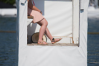 """Henley on Thames, United Kingdom, 7th July 2018, Saturday, View,  """"Fourth day"""", of the annual,  """"Henley Royal Regatta"""", Henley Reach, River Thames, Thames Valley, England, © Peter SPURRIER,"""
