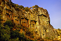 Carian Tombs, Dalyan, Turkey