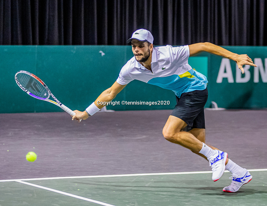 Rotterdam, The Netherlands, 9 Februari 2020, ABNAMRO World Tennis Tournament, Ahoy, Qualyfying round: Gregiore Barrere (FRA)<br /> Photo: www.tennisimages.com