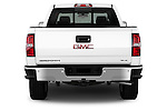 Straight rear view of a 2014 GMC Sierra 1500 SLE Crew Cab