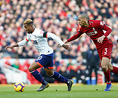 9th February 2019, Anfield, Liverpool, England; EPL Premier League football, Liverpool versus AFC Bournemouth; Jordon Ibe of Bournemouth goes past Fabinho of Liverpool