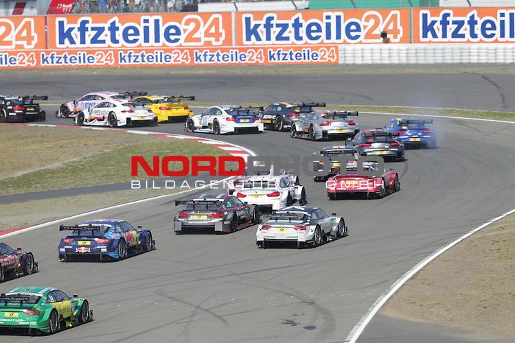 10.09.2016, N&uuml;rburgring, N&uuml;rburg, DTM 2016, 07.Lauf N&uuml;rburgring, 09.09.-11.09.2016, im Bild<br /> Rennstart:<br /> Marco Wittmann (DEU#11) BMW Team RMG, BMW M4 DTM , Tom Blomqvist (SWE#31) BMW Team RBM, BMW M4 DTM, Jamie Green (GBR#53) Audi Sport Team Rosberg, Audi RS 5 DTM , Edoardo Mortara (ITA#48) Audi Sport Team Abt Sportsline, Audi RS 5 DTM , Timo Glock (DEU#16) BMW Team RMG, BMW M4 DTM , Gary Paffett (GBR#2) Euronics/Free Men&acute;s World ART Grand Prix, Mercedes-AMG C-Coup&eacute; , Daniel Juncadella (ESP#12) Silberpfeil Energy/UBFS invest HWA AG, Mercedes-AMG C-Coup&eacute; <br /> <br /> <br /> <br /> <br /> <br /> <br /> <br /> Foto &copy; nordphoto / Bratic