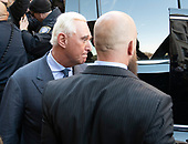 Former adviser to United States President Donald J. Trump, Roger Stone, departs the US District Court in Washington, DC following a show cause hearing to explain a photo he posted on Instagram of Judge Amy Berman Jackson with crosshairs next to her head on Thursday, February 21, 2019. Stone subsequently deleted the photo and the post and apologized to Judge Jackson in a letter.<br /> Credit: Ron Sachs / CNP<br /> (RESTRICTION: NO New York or New Jersey Newspapers or newspapers within a 75 mile radius of New York City)