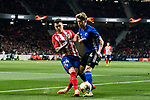 Jose Maria Gimenez de Vargas (L) of Atletico de Madrid fights for the ball with Nicolaj Thomsen of FC Copenhague during the UEFA Europa League 2017-18 Round of 32 (2nd leg) match between Atletico de Madrid and FC Copenhague at Wanda Metropolitano  on February 22 2018 in Madrid, Spain. Photo by Diego Souto / Power Sport Images