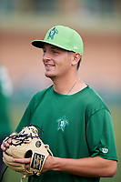 Daytona Tortugas relief pitcher Jesse Stallings (40) warms up before a game against the Florida Fire Frogs on April 8, 2018 at Osceola County Stadium in Kissimmee, Florida.  Daytona defeated Florida 2-1.  (Mike Janes/Four Seam Images)