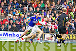 Bryan Sheehan Kerry in action against Keith Higgins Mayo in the National Football League in Austin Stack Park on Sunday..
