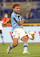 Football, Serie A: S.S. Lazio - Cagliari, Olympic stadium, Rome, July 23, 2020. <br /> Lazio's Ciro Immobile scores during the Italian Serie A football match between Lazio and Cagliari at Rome's Olympic stadium, Rome, on July 23, 2020. <br /> UPDATE IMAGES PRESS/Isabella Bonotto