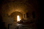 Vaulted stone room at Acropolis site, Lindos, Rhodes, Greece