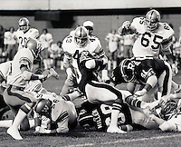 Winnipeg Blue Bombers against Ottawa Rough Riders 1976. Copyright photograph Scott Grant