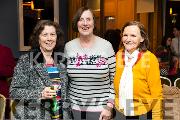 Kathleen Leane, Patricia Curtin and Martina O'Donoghue, Knocknagoshel, enjoying Ballymac Strictly Come Dancing, at Ballygarry House Hotel & Spa, Tralee, on Saturday night last.