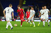Joe Rodon of Wales in action during the UEFA Euro 2020 Qualifier match between Wales and Azerbaijan at the Cardiff City Stadium in Cardiff, Wales, UK. Friday 06, September 2019