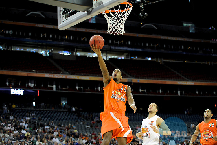 01 APR 2011: Practice Day during the 2011 NCAA Men's Division I Basketball Final Four at Reliant Stadium in Houston, TX. ©Brett Wilhelm/NCAA Photos