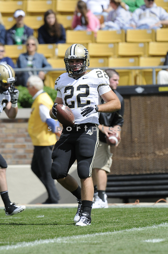 SEAN MATTI, of  Purdue, in action during the Boilermakers game against Notre Dame at Notre Dame Stadium in South Bend, Indiana on September 4, 2010.   Notre Dame won the game 23-12.....
