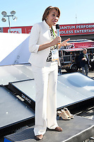 LAS VEGAS, NV - JANUARY 10:  Mayor of Flint Michigan, Karen Weaver speaks at the Zero Mass Water Booth during CES 2019 in Las Vegas, Nevada on January 10, 209.   <br /> CAP/MPI/DAM<br /> ©DAM/MPI/Capital Pictures
