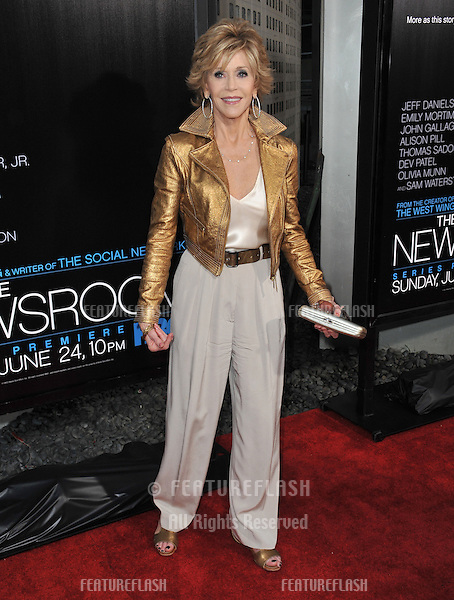 "Jane Fonda at the Los Angeles premiere for HBO's new series ""The Newsroom"" at the Cinerama Dome, Hollywood..June 21, 2012  Los Angeles, CA.Picture: Paul Smith / Featureflash"