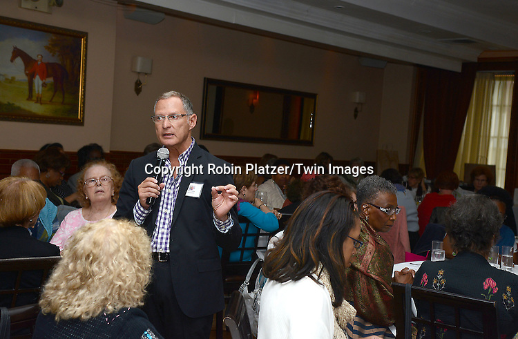 Stacy Charles attends the Big Apple Knitters Guild Luncheon on September 20, 2014 at Maloney &amp; Porcelli in New York City. <br /> <br /> photo by Robin Platzer/Twin Images<br />  <br /> phone number 212-935-0770