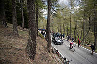 Tanel Kangert (EST/EF Education First) up the Colle San Carlo (Cat1/1921m/10.1km/9.8%)<br /> <br /> Stage 14: Saint Vincent to Courmayeur/Skyway Monte Bianco (131km)<br /> 102nd Giro d'Italia 2019<br /> <br /> ©kramon