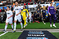 Mike van der Hoorn of Swansea City during the Sky Bet Championship match between Swansea City and Derby County at the Liberty Stadium in Swansea, Wales, UK. Wednesday 01 May 2019