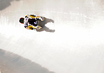6 February 2009: Anke Wischnewski from Germany slides through a curve in the Women's Competition finishing in 10th place for the event with a combined time of 1:28.971 at the 41st FIL Luge World Championships, in Lake Placid, New York, USA. .  .Mandatory Photo Credit: Ed Wolfstein Photo