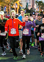 LAS VEGAS, NV - December 2 : Paul McDonald and Nikki Reed pictured t starting line at Rock and Roll Marathon & 1/2 on The Las Vegas Strip at Night on December 2, 2012 in Las Vegas, Nevada. © Kabik/ Starlitepics /MediaPunch Inc. ©/NortePhoto /NortePhoto©