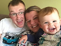 Pictured: Darcy-May Elm (R) with dad Daniel (L) and mum Dani<br /> Re: Inquest to be held in Milford Haven Coroner's Court, into the death of four-year-old Darcy-May Elm who was killed in a two-car crash on the A40, west of Carmarthen, Wales on the 27th of October 2018.<br /> Dyfed-Powys Police had to shut the road for seven hours to investigate the crash, which involved a blue Nissan Micra and a black Skoda Fabia.<br /> The family from Swanage, Dorset were on their way for a family break.<br /> Daniel and Dani, Darcy-May's parents had to stay in hospital.