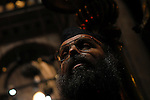 A priest is praying at the Church of the Holy Sepulchre in east Jerujalem,Thursday 30 August 2007.PHOTO BY TOMER NEUBERG / JINI