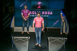 On the last day of the Milan Fashion Week, the Giro d'Italia presented the 2018 jerseys and the new Madrina, Alice Rachele Arlanch, Miss Italia 2017. Milan, Italy. 15th January 2018.<br /> Picture: LaPresse/Stefano De Grandis | Cyclefile<br /> <br /> <br /> All photos usage must carry mandatory copyright credit (&copy; Cyclefile | LaPresse/Stefano De Grandis)