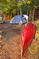 A canoe campsite in the Boundary Waters Canoe Area Wilderness in Northern Minnesota.