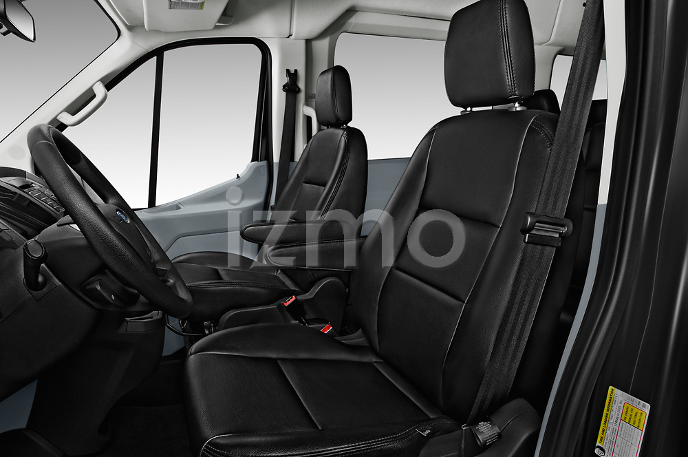 Front seat view of a 2019 Ford Transit Wagon 350 XLT Wagon High Roof Pass Slide 148WB 5 Door Passenger Van front seat car photos
