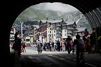 entering Val thorens<br /> <br /> shortened stage 20: Albertville to Val Thorens(59km in stead of the original 130km due to landslides/bad weather)<br /> 106th Tour de France 2019 (2.UWT)<br /> <br /> ©kramon