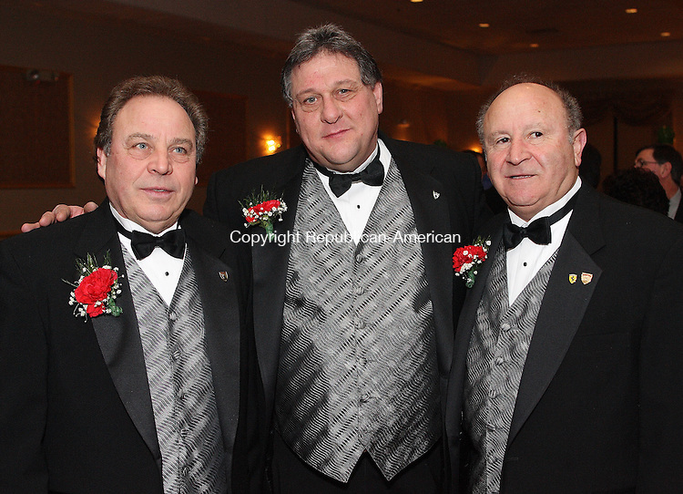 Waternury, CT-26 January 2008-012608MK36   (From Left) Joe Polletta Vice Chairman of the Ponte Club, Ron Guerrera Chair of the Board for the Ponte Club and Tommaso Fusco Chairman of the event gathered at the Ponte Club to celebrate the appointment of the new officers. Michael Kabelka Republican-American(From Left)Joe Polletta Vice Chairman of the Ponte Club, Ron Guerrera Chair of the Board for the Ponte Club and Tommaso Fusco Chairman of the event  )CQ