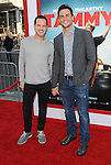 Jason Landau and Cheyenne Jackson arriving to the premiere of Tammy held at the TCL Chinese Theatre in  Los Angeles, CA. June 30, 2014.