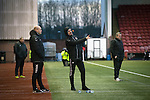 Clyde versus Edinburgh City, SPFL League 2 game at Broadwood Stadium, Cumbernauld. The match ended 0-0, watched by a crowd of 461. Photo shows Clyde manager Barry Ferguson gesturing on the sidelines.