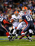 17 November 2008:  Cleveland Browns' running back Jason Wright gains yardage against the Buffalo Bills at Ralph Wilson Stadium in Orchard Park, NY. The Browns defeated the Bills 29-27 in the Monday Night AFC matchup. *** Editorial Sales Only ****..Mandatory Photo Credit: Ed Wolfstein Photo