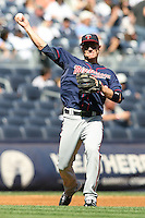 09/19/11 Bronx, NY: Minnesota Twins third baseman Danny Valencia #19 during an MLB game played at Yankee Stadium between the Minnesota Twins and the New York Yankees. The Yankees defeated the Twins 6-4.
