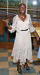 Cynthia Erivo backstage after Nicolette Robinson makes her Broadway debut in 'Waitress' on September 4, 2081 at the Brooks Atkinson Theatre in New York City.