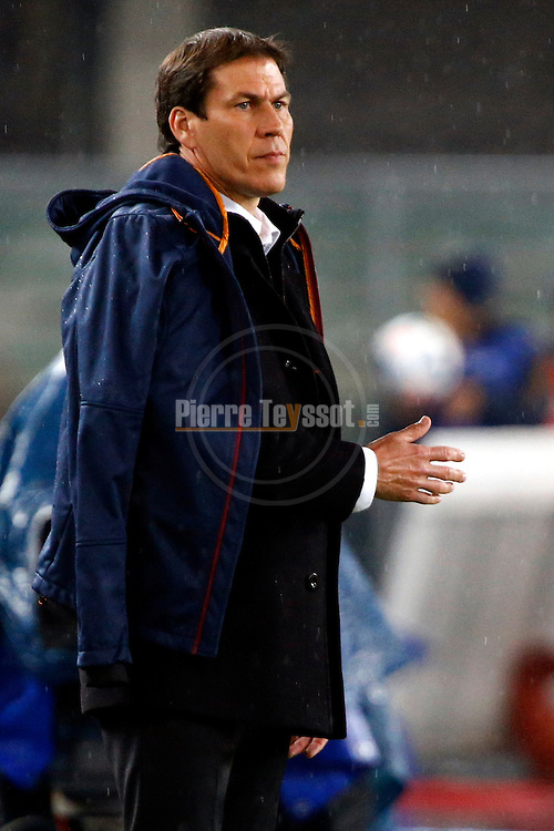 Roma's coach French Rudi Garcia in action during the Serie A football match Chievo Verona vs Roma at Verona, on March 22, 2014. <br /> &copy; Pierre Teyssot