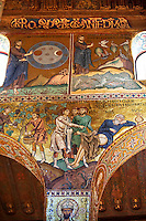Byzantine mosaics at the Palatine Chapel ( Capella Palatina ) Norman Palace Palermo, Sicily, It