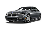 Stock pictures of low aggressive front three quarter view of 2017 BMW 7 Series 750i M Sport 4 Door Sedan Low Aggressive