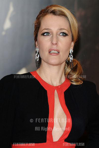 "Gillian Anderson arriving for the premiere of ""Mission Impossible Ghost Protocol"" at the IMAX cinema, South Bank, London. 13/12/2011 Picture by: Steve Vas / Featureflash"