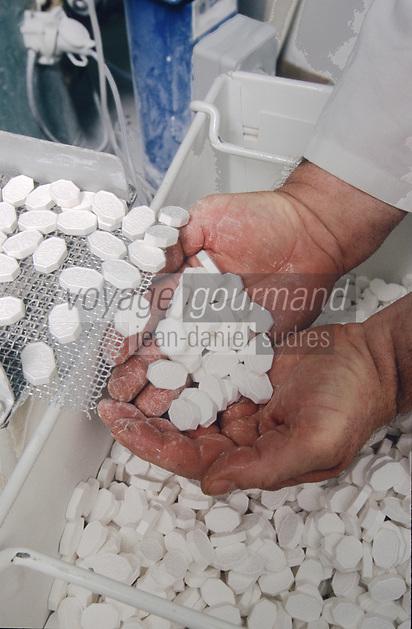 Europe/France/Auvergne/03/Allier/Vichy: Fabrication des pastilles de Vichy - Société Moinet Vichy Santé
