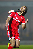 Walsall's Kory Roberts during the Sky Bet League 1 match between Rochdale and Walsall at Spotland Stadium, Rochdale, England on 23 December 2017. Photo by Juel Miah / PRiME Media Images.