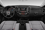 Stock photo of straight dashboard view of 2017 GMC Sierra-1500 Regular-Cab 2 Door Pickup Dashboard