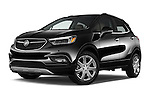 Stock pictures of low aggressive front three quarter view of 2018 Buick Encore Premium 5 Door SUV Low Aggressive