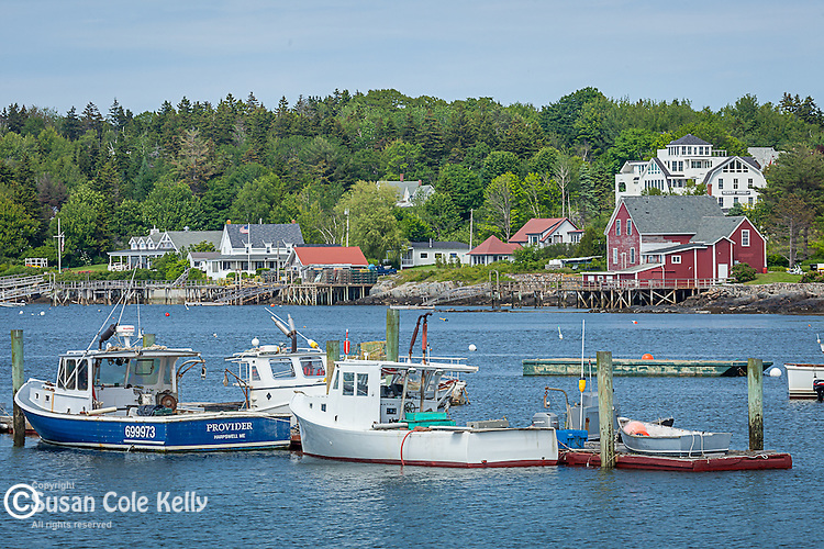 Lobster boats on Bailey's Island in Harpswell, Maine, USA