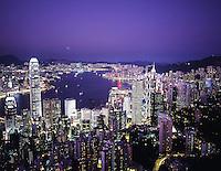 Hong Kong as seen from Victoria Peak.