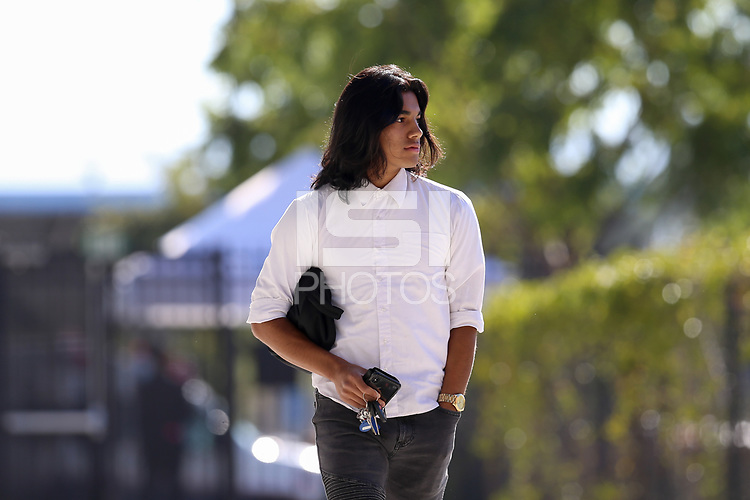 San Jose, CA - Saturday October 13, 2018: Gilbert Fuentes prior to a friendly match between the San Jose Earthquakes and Cruz Azul at Avaya Stadium.