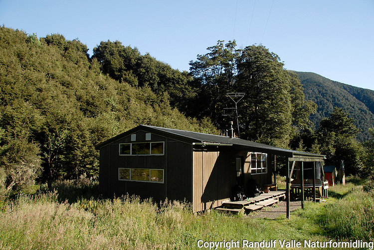 Anne River Hut, St. James Walkway, New Zealand.