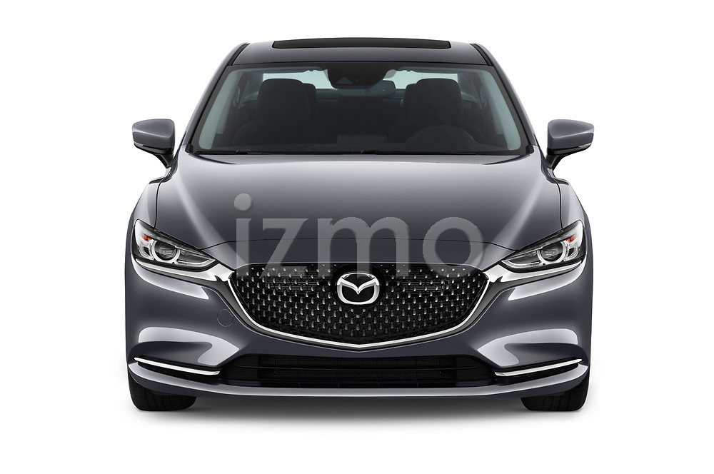 Car photography straight front view of a 2019 Mazda Mazda6 Grand Touring Reserve 4 Door Sedan