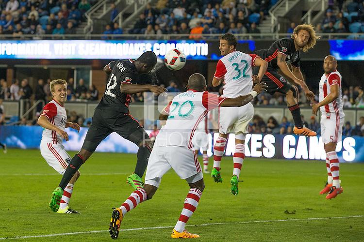 San Jose, CA. - Saturday, April 2, 2016: The San Jose Earthquakes tied D.C. United 1-1 at Avaya Stadium.